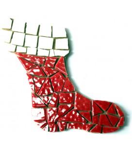 Support en bois - Chaussette de Noël