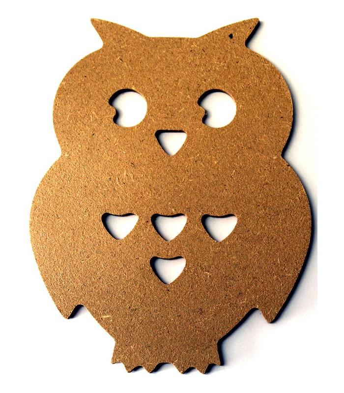 en bois > Petite taille  10 à 15 cm > Support en bois  Chouette ~ Petit Support En Bois