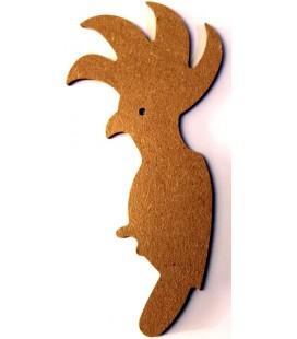 Support en bois - Perruche