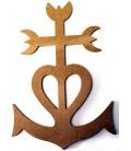 Support en bois - Croix camarguaise