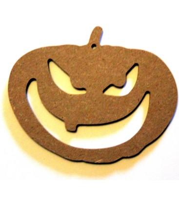 Support en bois - Citrouille d'Halloween
