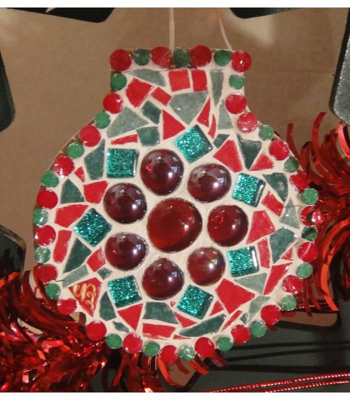 Kit Creation Boule De Noel.Kit Mosaïque Enfant Noël Sans Outil