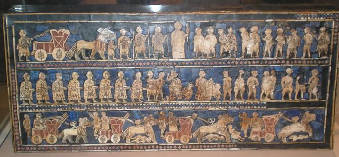 « Etendard d'Ur » au British Museum de Londres